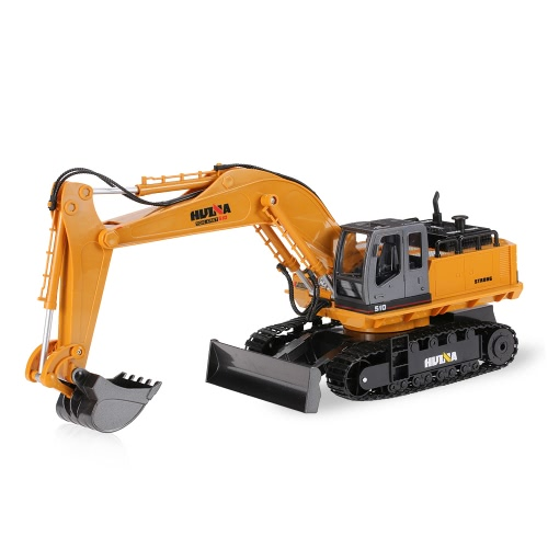 Original HUINA TOYS NO.1510 2.4GHz 11CH Alloy Engineering Electronic Excavator Heavy Machinery RC Toys Car Truck