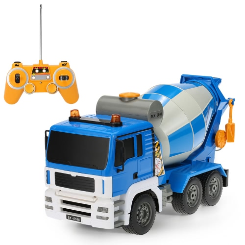 Original Double E E518-003 1:20 27MHz 4WD Cement Concrete Mixer Engineering Truck Model Construction vehicle Toys for Children
