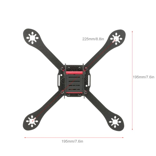 Original GEPRC GEP-ZX6 225mm Wheelbase FPV Quadcopter Carbon Fiber Frame with PDB Kit for 225mm Racing Drone