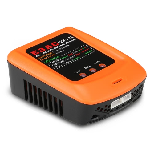 E3AC 15W/1.2A Professional LiPo Balance Charger for 2S/3S LiPo Battery