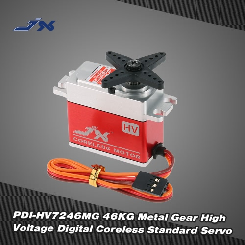 JX PDI-HV7246MG 46KG Metal Gear High Voltage Digital Coreless Standard Servo for RC Car 550-700 Airplane Helicopter