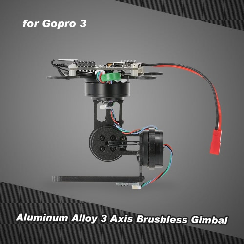 Aluminum Alloy 3 Axis Brushless Gimbal with Storm32 BGC Control Panel for Gopro 3 4 DJI F450 F550 Cheerson CX-20 Aerial Photography