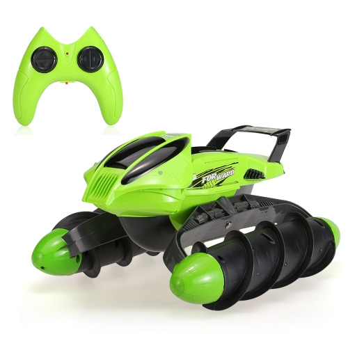 Flytec 989-393 2.4GHz Amphibious Stunt Waterproof All-terrain Sand Lake Pool Grass Snow Slippery Road High Speed RC Tank Boat