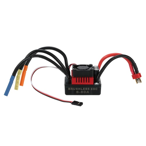 GoolRC S3674 2250KV Brushless Motor S-80A ESC with 9.0kg HV Servo Upgrade Brushless Combo Set for 1/8 RC Car Truck