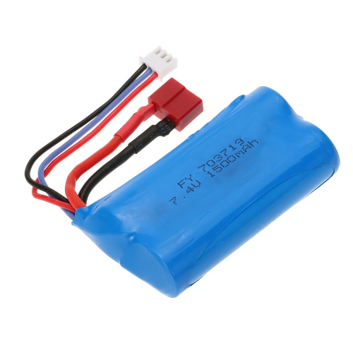 7.4V 1500mAh Battery with T Plug for FEIYUE FY-03 Wltoys 12428 RC Car