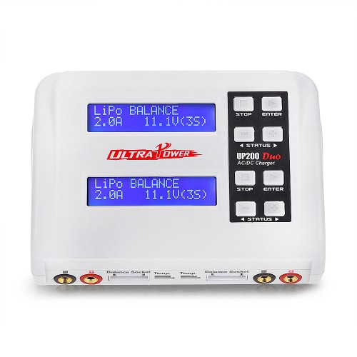 Ultra Power UP200 DUO 200W 10A AC/DC Battery Balance Charger/Discharger for LiPo LiFe Lilon LiHV NiCd NiMh Pb RC Battery
