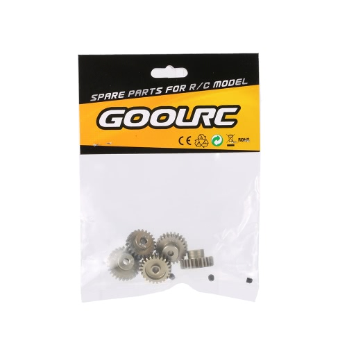 GoolRC M0.6 3.175mm 23T 24T 25T 26T 27T 0.6 Module Pinion Motor Gear for 1/8 1/10 RC Off-road Buggy Monster Truck Brushed Brushless Motor