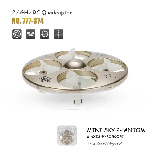 HappyCow 777-374 Mini Sky Phantom Nano 2.4GHz 4CH 6-axis Gyro RC Quadcopter 3D Flip Headless Mode UFO Drone RTF