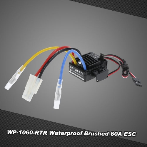 WP-1060-RTR Waterproof Brushed 2S-3S 60A ESC for 1/10 Tamiya Traxxas Redcat HSP HPI RC Car