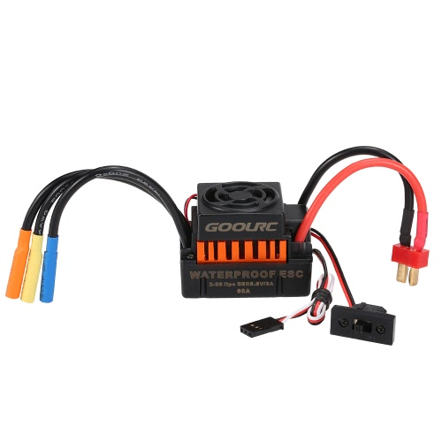 GoolRC Waterproof 60A Brushless ESC Electric Speed Controller with 5.8V/3A BEC for 1/10 RC Car