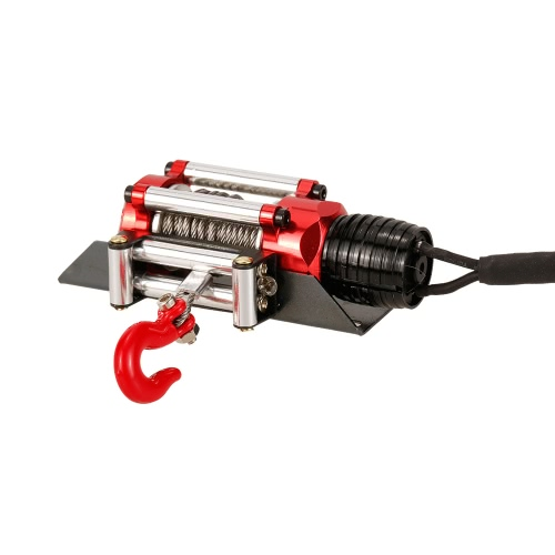 Metal Steel Wired Automatic Simulated Winch with Switch for 1/10 Traxxas HSP Redcat HPI TAMIYA CC01 Axial SCX10 RC4WD D90 RC Rock Crawler