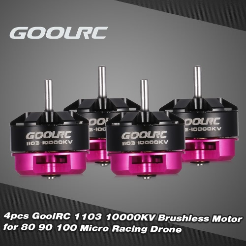 4pcs GoolRC 1103 10000KV 2S Brushless Motor CW/CCW for 80 90 100 Tiny Micro FPV Racing Quadcopter