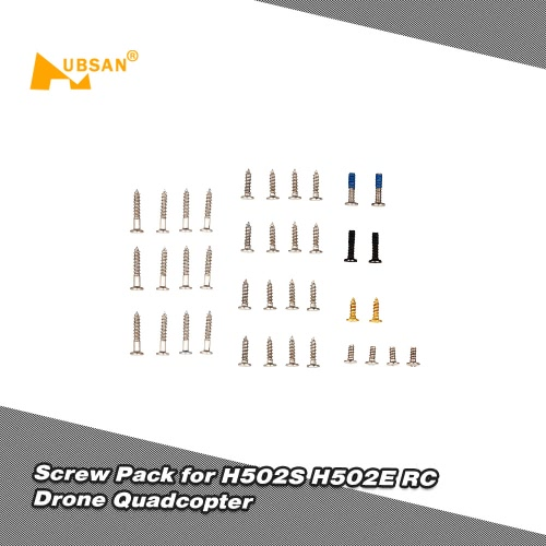 Original Hubsan Spare Parts Screw Pack Kit for H502S H502E RC Drone Quadcopter