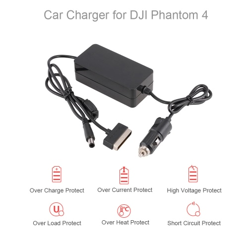 2 in 1 6A Large Current Outdoor Car Charger for DJI Phantom 4 / 4 Pro Advanced FPV Drone Quadcopter