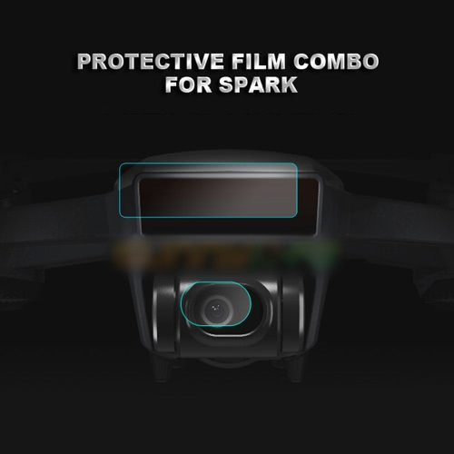 4 Pairs Camera Lens Protective Guarding Film Flexible Fiberglass Film Membrane for DJI Spark