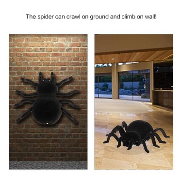 Radio Control RC Simulation Furry Electronic Spider Scary Scream Wall Climbing Spider Toy Kids Gift Halloween Surprise