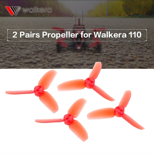 2 Pairs Original Walkera Rodeo 110-Z-01 3-Blade Propeller CW / CCW for Walkera Rodeo 110 FPV Racing Quadcopter