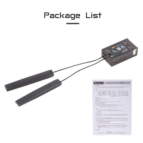 Original FrSky L9R 12CH SBUS PWM 2.4G High Gain Long Range Receiver for 250 FPV Racing Drone RC Helicopter Airplane X9D Plus