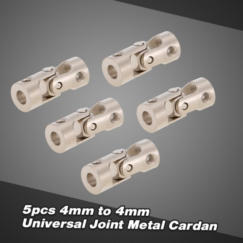 5pcs Stainless Steel 4 to 4mm Full Metal Universal Joint Cardan Couplings for RC Car and Boat D90 SCX10 RC4WD