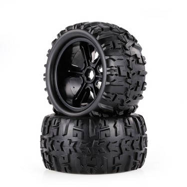 2pcs 3.6 Inch 150mm Monster Truck Wheel Rim and Tire for 1/8 Traxxas HSP HPI E-MAXX Savage Flux ZD Racing RC Car