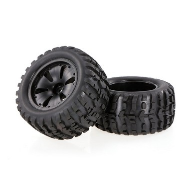 2pcs 2.75 Inch 120mm Monster Truck Wheel Rim and Tire for 1/10 HPI Savage XS Flux MT LRP RC Car