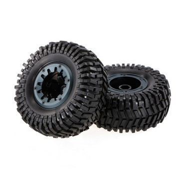 2pcs 1.7 Inch 128mm Rock Crawler Wheel Rim and Tire for 1/10 Traxxas HSP HPI ZD Racing RC Car