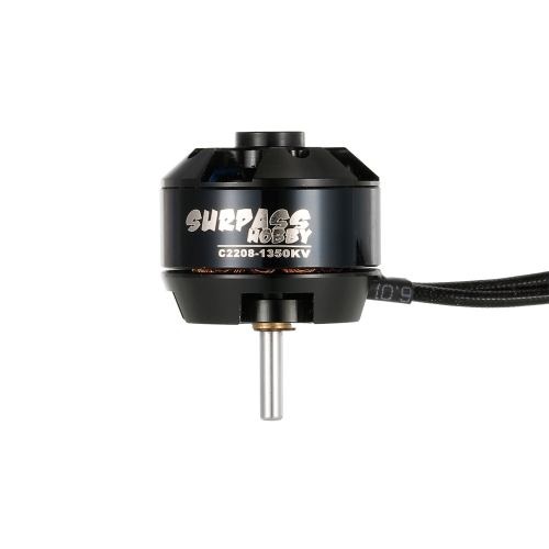 SURPASS HOBBY 2208 1350KV 14 Poles Brushless Motor & 20A ESC 2-4S for RC Airplane Fixed-wing Glider Warbirds