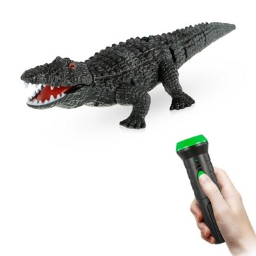 Infrared Remote Control Simulation Mini Crocodile Terrifying Ghost Toy RC Animal Christmas Present Gift for Kids