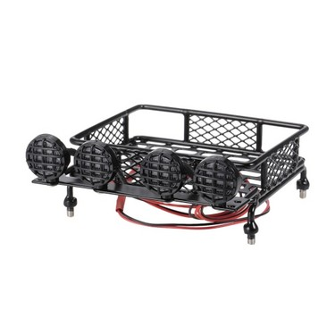 Roof Rack Luggage Carrier & Light Bar for 1/10 Monster Truck RC Car Crawler TAMIYA CC01 CR01 AXIAL SCX10 RC4WD REDCAT