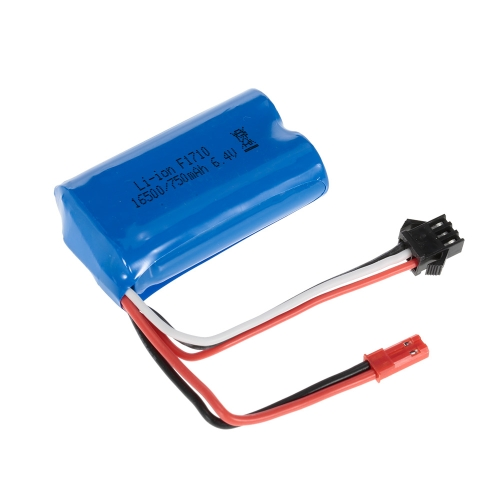 6.4V 750mAh Li-ion Rechargeable Battery for WLtoys A959-A A979-A RC Buggy Car