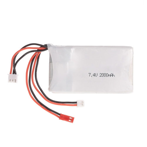 Lipo Battery 2S 7.4V 2000mAh 8C Lipo Battery for FrSky TARANIS Q X7 2.4G ACCST 16CH Remote Controller RC Transmitter