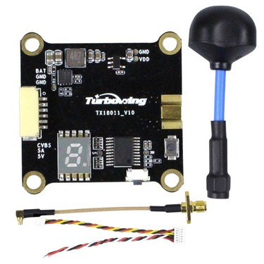 Turbowing Cyclops TX18011 0/25/200/600mW Switchable 5.8G 48CH FPV VTX Video Transmitter with Polarized Antenna