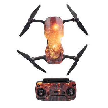 Protective Sticker Skin Cover Waterproof Sticker Cool Pattern Starry Sky for DJI Mavic AIR RC Drone and Remote Controller