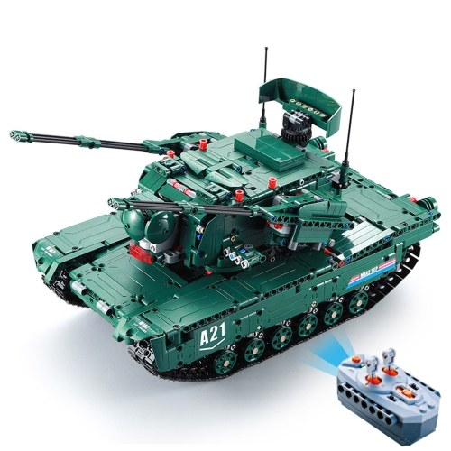 DOUBLE E C61001W 1498 PCS Building Blocks 1/20 Transformable M1A2 Tank Vehicle RC Toy