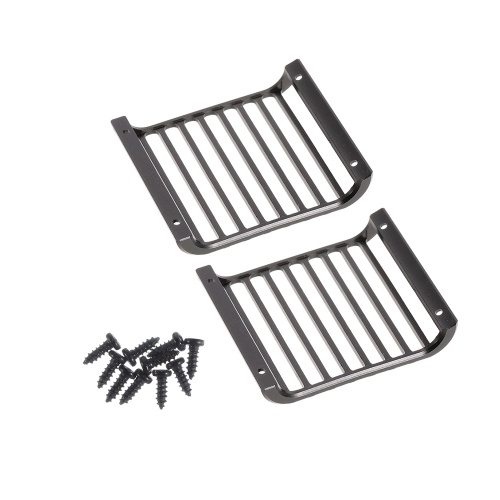 Metal Front Lamp Guards Headlight Cover Guard Grille for 1/10 RC Crawler Car Traxxas TRX-4