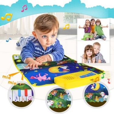Music Play Mat Learn Singing Carpet Keyboard Piano Blanket Touch Play Sound Baby Early Education Kids Gift