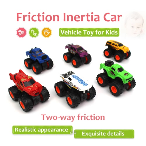 1/48 6 in 1 Kit Two-way Friction Car Inertia Car Vehicle Toy for Kids