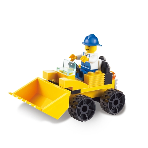 586pcs 6-in-1 XIPOO Truck Series XP93301-6 Drill Navvy Roller Rooter Engineering Building Block Toys