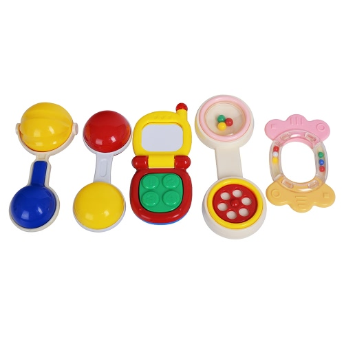 GOODWAY 3315A Baby Hand Rattles Set Bed Bell Toys Kids Happy Buddy Feeding Bottle Packing Newborns Gift