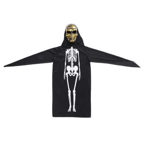 Halloween Costume Scary Skeleton Mask Ghost Clothes Festival