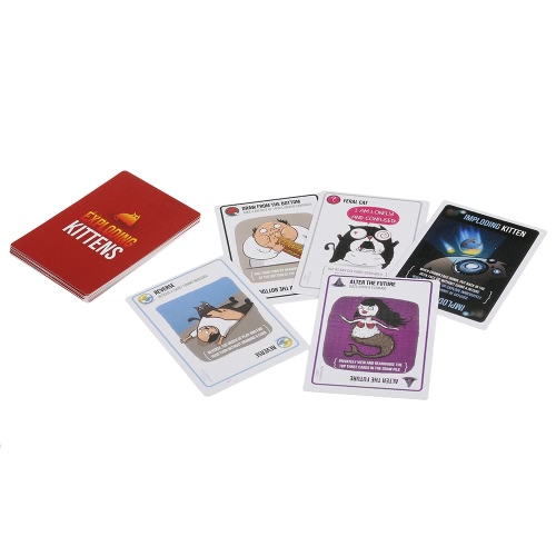 Imploding Kittens Card Game Party Play Cards First Expansion of Exploding Kittens