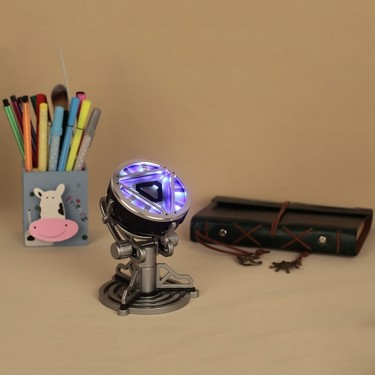 1/1 Iron Man Arc Reactor with LED Light Movie Prop for Friendship Gift Collection Kids Toy