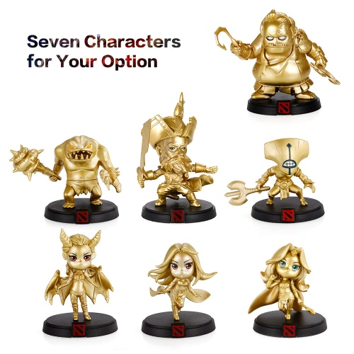 DOTA 2 Game Character QOP Queen of Pain Figure Akasha Action Figure Toy Gold