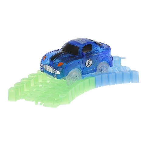 Glitter Track Race Car for 55mm Twister Tracks Neon Glow in Darkless for Kids