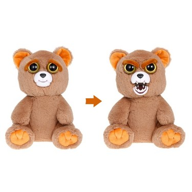 Feisty Pets Sir Growls-A-Lot Feisty Films Adorable Plush Stuffed Toy Bear Turns Feisty with a Squeeze