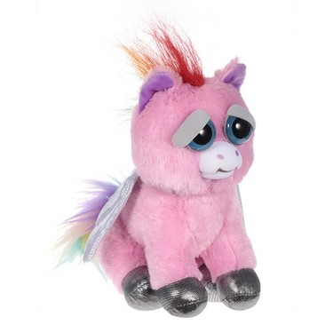Feisty Pets Sparkles Rainbowbarf Adorable Plush Stuffed Pegasus Turns Feisty with a Squeeze