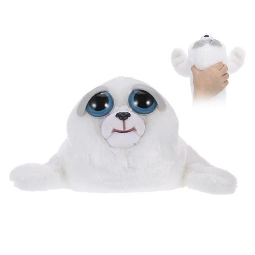 Feisty Pets Tony Tubbalard Feisty Films Adorable Plush Stuffed Toy Harp Seal Pup Turns Feisty with a Squeeze