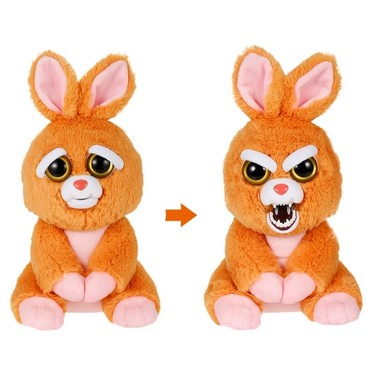 Feisty Pets Sir Vicky Vicious Adorable Plush Stuffed Rabbit Turns Feisty with a Squeeze