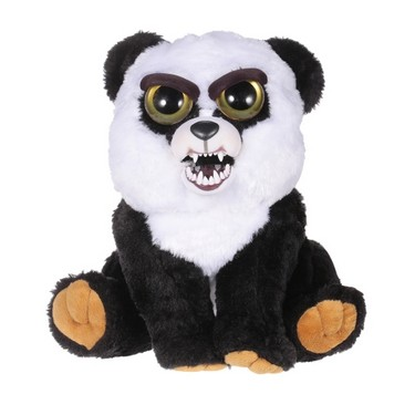 Feisty Pets Black Belt Bobby Adorable Plush Stuffed Panda Turns Feisty with a Squeeze