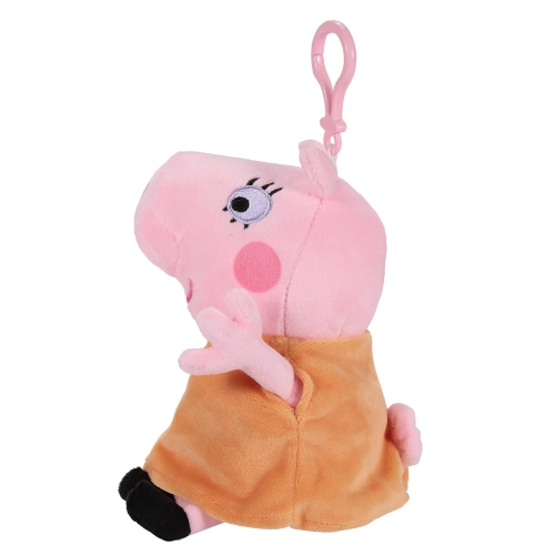 Original Brand Peppa Pig 19cm Mom Bag Pendant Keychain Stuffed Plush Toy Family Party Christmas New Year Gift for Kids
